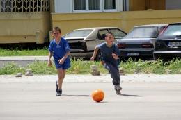 Футбол на парковке. Bar, Montenegro
