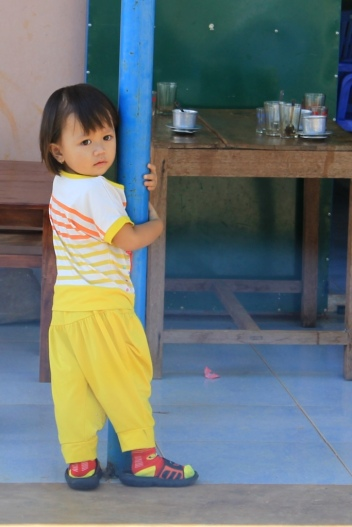 Девочка с кофейной плантации. Lam Dong, Vietnam